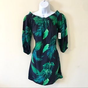 Old Navy Tropical Blue Green Dress NWT